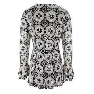 Image 4 - YTL Womens Plus Size Elegant Mature Floral Loose Tunic Top Shirt Sleeve Oversize Blouse Holiday Summer Shirt 6XL 7XL 8XL H036