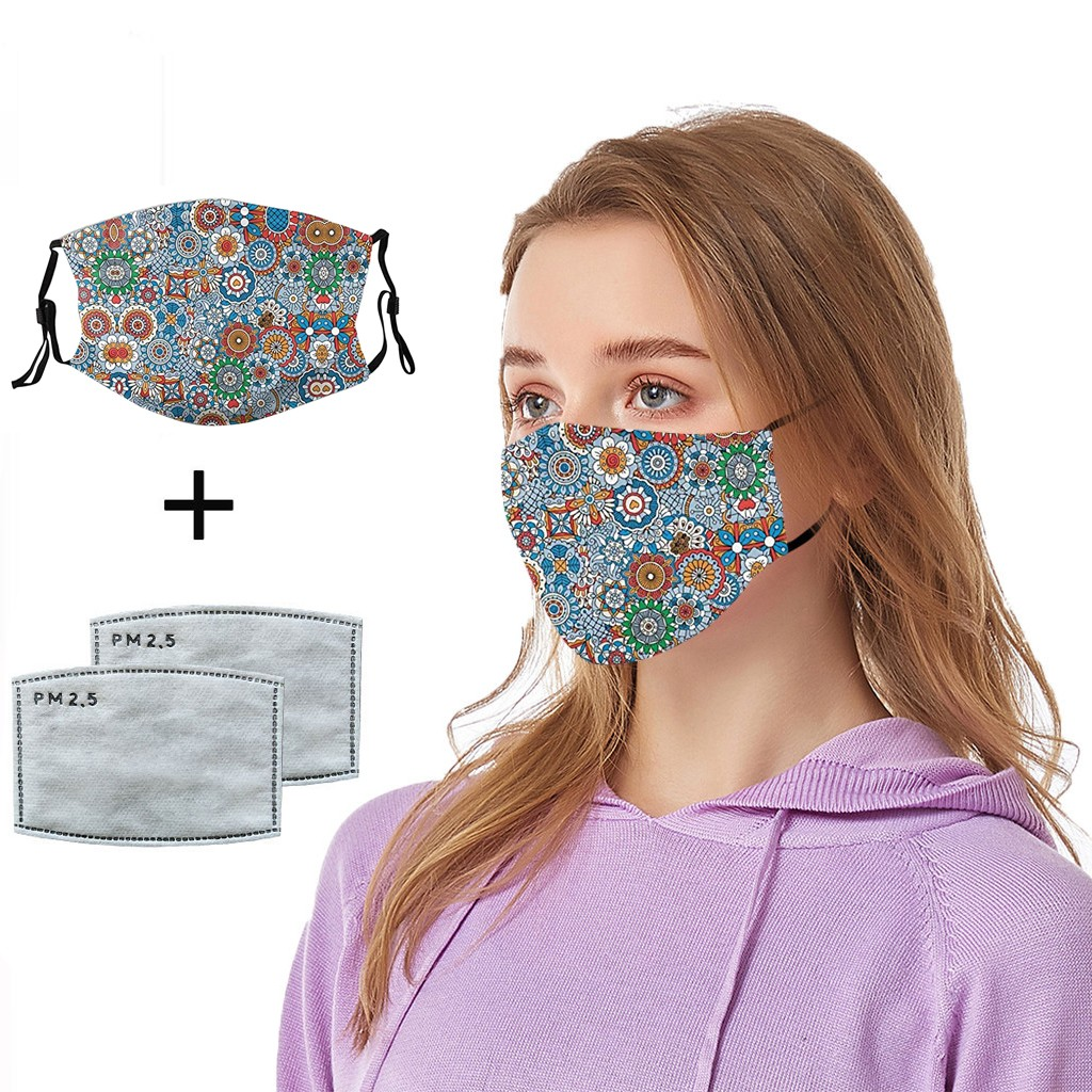 Fashion Reusable Protective Dust Mouth Mask Funny Animal Printed Breathable Reusable Mask Filter PM2.5 Air Filtration Mask 2020