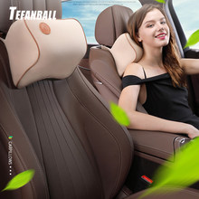 1Pc Car Seat Head Neck Rest Massage 3D Memory Foam Cushion Support Headrest Pillow Car Seat Cover 7 Colors Universal Car Styling(China)