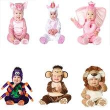 Карнавальный костюм на Хэллоуин с рисунком животных; зимняя одежда для маленьких мальчиков и девочек; Рождественский подарок; вечерние комплекты одежды для малышей