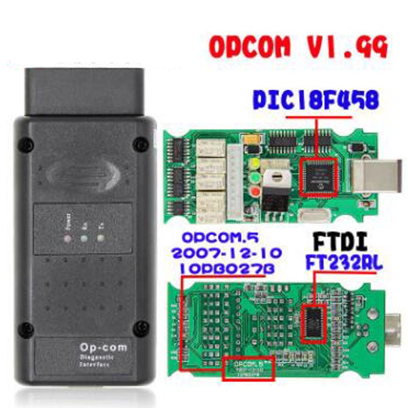 OPCOM 2014V V1.99 FTDI FT232RQ NEW OPCOM 120309a Latest Version OBD2 Op-com / Op Com / Opcom