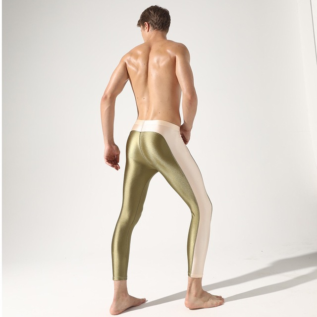 New Men's Fashion Leggings,Men's Tights Sexy Pants,Men's Slim Stretch Leggings 3