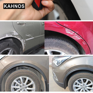 Image 5 - Wheel Arch Covers Extensions Universal Rubber Fender Flares Lip Wheel arch Trim Fender Eyebrow Protector Scratch Proof Rubber
