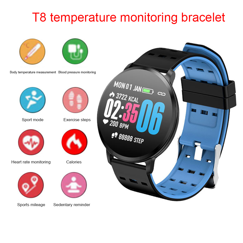 Men Women Fitness Tracker Smart Watch Pedometer Wristband Bracelet APP Supported Sport Heart Rate Monitor Calorie Counter image