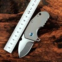 M390 Folding Knife Outdoor Self defense Knife Titanium Alloy Portable Knife