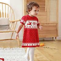 Vestido infantes infantil de punto de ciervo para Navidad, ciervo de Navidad, Crochet, para fiesta de princesa