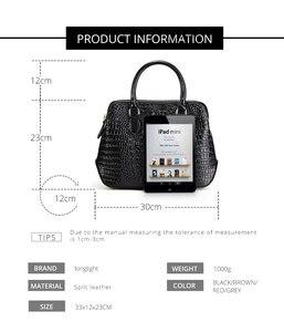 Image 2 - Женская сумка из натуральной кожи, модная сумка через плечо с узором «крокодиловая кожа», Классическая сумка через плечо, LongLight