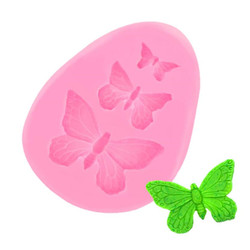 Butterfly Mold Silicone Baking Accessories 3D DIY Sugar Craft Chocolate Cutter Mould Fondant Cake Decorating Tool