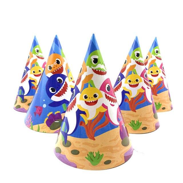 מסיבה שולחן קונספט בייבי שארק כריש תינוק צלחות כובעים להזמנה לייף דיזיין במבצע