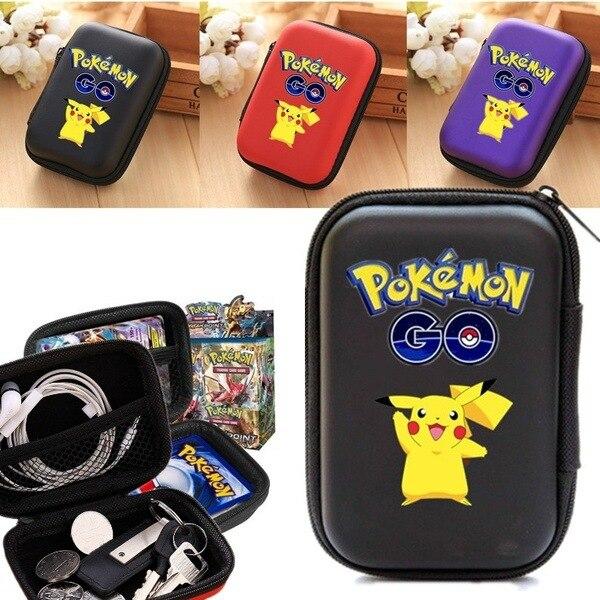 Pokemon TCG Card Finishing Storage Bag Pokemons Games Headset Storages Box Children's Toys