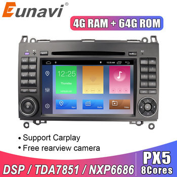Eunavi 2 Din Android 10 Car Multimedia Player DVD Radio GPS Auto For Mercedes Benz B200 B class W245 B170 W209 W169 Sprinter DSP image