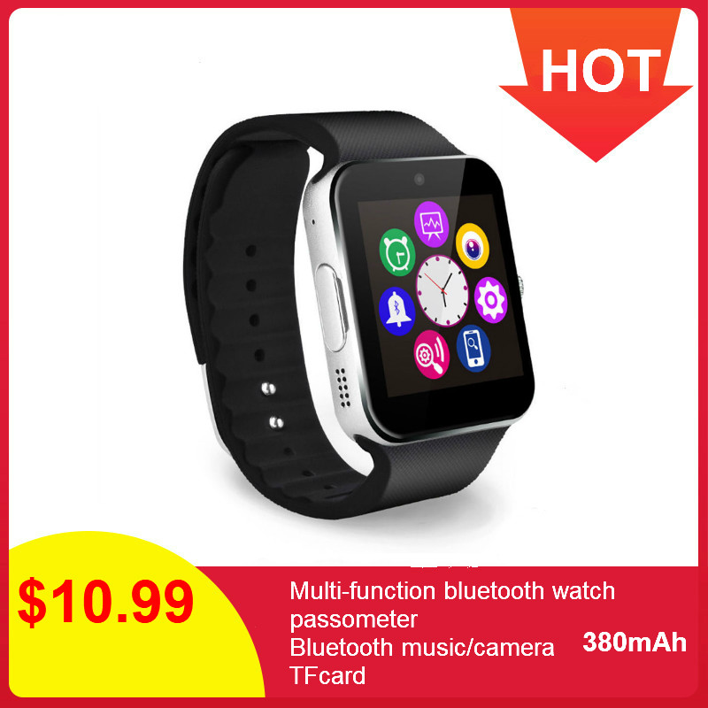 GT08 Smart Watch Men SIM Card Support TF Voice Recorder Music Bluetooth Call Watch Android Phone Smartwatch Women Wrist Watch image