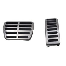 Car Accessories For Cadillac SRX AT Automatic Accelerator Gas Brake Stainless Steel Foot Rest Pedals Pad Plate Stickers #YL1(China)