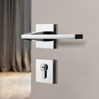 Chrome Interior Door Handle Door Lock Door Hardware Handles for Interior Door Gold Lock for Bathroom