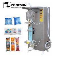Zonesun máquina de embalagem líquida automática saco de molho de leite de feijão plástico saquinho de água pura máquina de selagem de enchimento de suco de leite