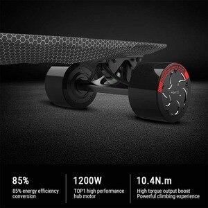 Image 2 - لوح تزلج كهربائي متعدد الوظائف الكبح التزلج أربع عجلات القيادة Longboard بلوتوث بعيد مقاوم للماء لوح تزلُّج