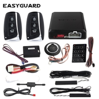 EASYGUARD button start stop keyless entry cars remote start car security system remote central locking pke passive keyless entry