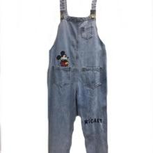 Denim Romper Women Jeans Jumsuit High-Waist Cartoon Overalls Playsuits-Pants Mouse 2XL