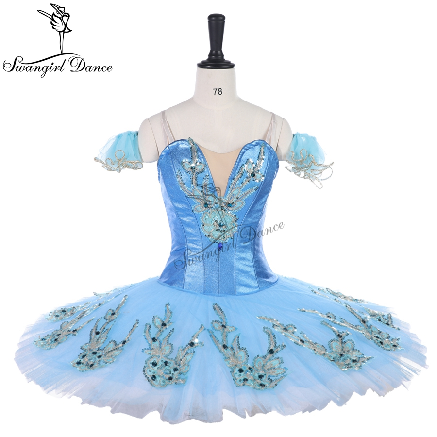 Adult classical ballet tutu blue pancake platter tutu costume performance competition professional tutus ballerina dress BT9142