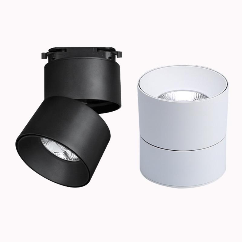 COB 7W 10W 12W 20W 30W Led Track Light Aluminum Ceiling Rail Track Lighting Spotlights Replace Halogen Lamps AC110V 220V
