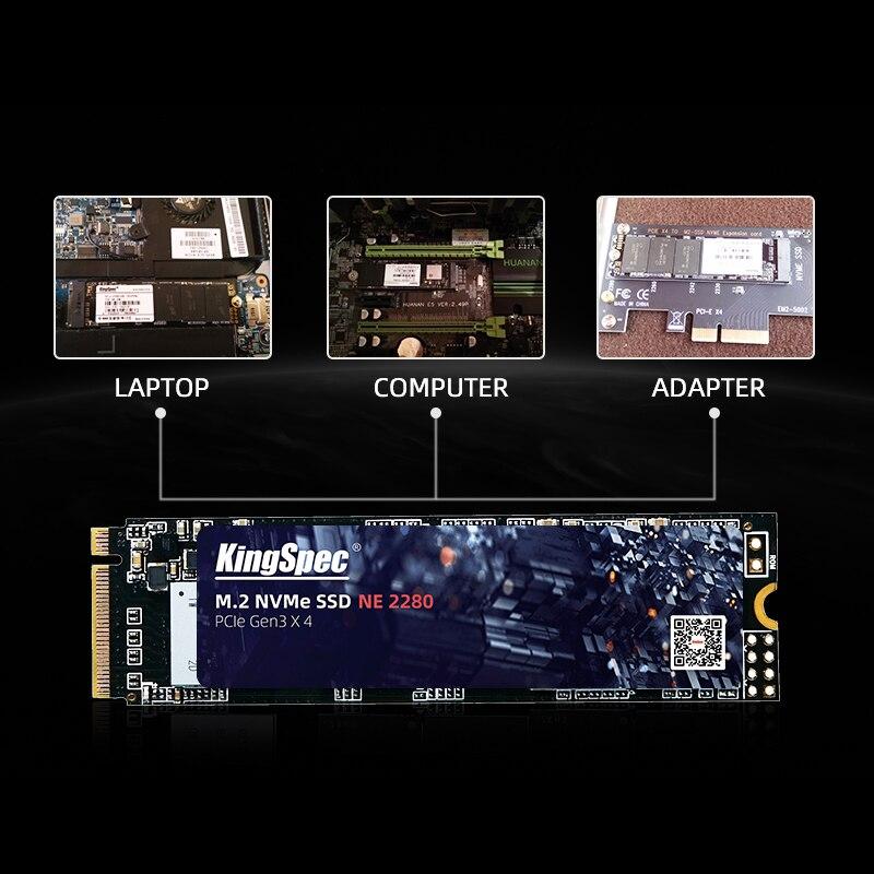 KingSpec M2 SSD NVMe 256GB 512GB 1TB 128GB M.2 2280 PCIe SSD Internal Solid State Drive for Laptop Desktop SSD Drive 4
