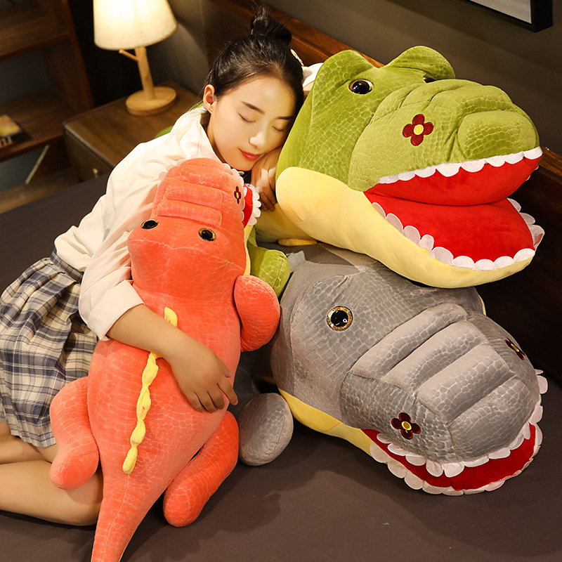 Huggable Big Size Simulation Crocodile Plush Toys Soft Stuffed Animals Cushion Pillow Toys Home Decor Kids Girls Xmas gifts  - buy with discount