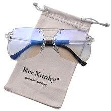 Blue Light Blocking Glasses For Computer Clear Lens Square Eyewear Frames Anti Blue Ray Radiation Anti Eye Fatigue Goggles UV400 цена