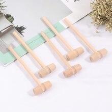 5 pçs martelo de madeira mallet ferramenta de escultura de jóias que faz a ferramenta de treinamento mão martelo ferramenta de mão