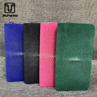 McParko Stingray Leather Wallet Women Genuine Leather ladies leather Clutch wallets Female Stingray Skin Long Purse Red Green