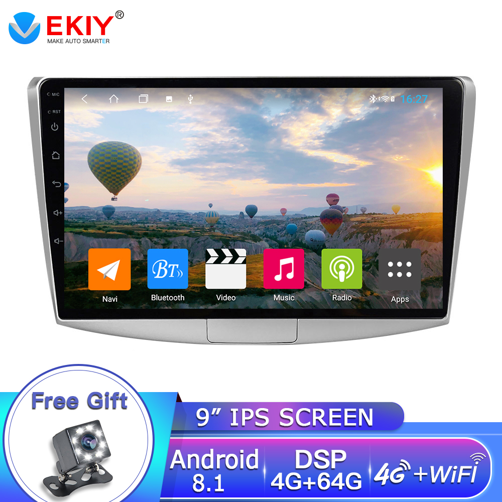 EKIY 10.1'' IPS Android 8.1 Car Multimedia Auto Radio 4G+64G For VW Volkswagen <font><b>Passat</b></font> <font><b>B6</b></font>/B7 Magotan/CC 2012-2015 GPS Navigation image