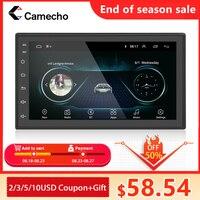 Camecho 2 din rádio do carro android carro aoturadio gps wifi bluetooth mirrorlink reprodutor multimídia carro para universal 2din estéreo do carro