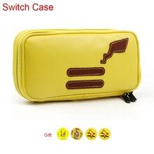 Bolso impermeable de la caja del almacenamiento de la PU para las bolsas de transporte de la consola de la Nintendo Switch NS Nintendos accesorios del juego del Pikachu del interruptor