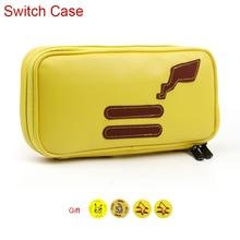À prova dwaterproof água caso de armazenamento do plutônio saco para nintend switch ns console sacos de transporte interruptor pikachus acessórios do jogo nintendos