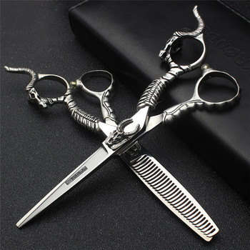Hair Salon Stylist Professional Hairdressing Scissors 6 inch Japanese 440C Barber Set Cutting & Thinning Shears