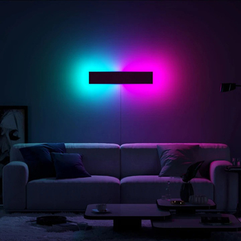Modern RGB LED Wall Lamp Home Decoration Wall Light,Bedroom Colorful Restaurant Living Room Indoor Dining Room Lighting Fixtures