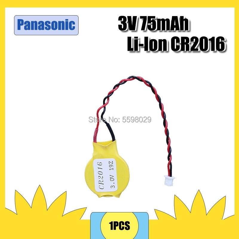 Батарея Panasonic CR2016 2016 Кнопочная батарея с проводом и вилкой CMOS 3V батарейка BIOS батарея