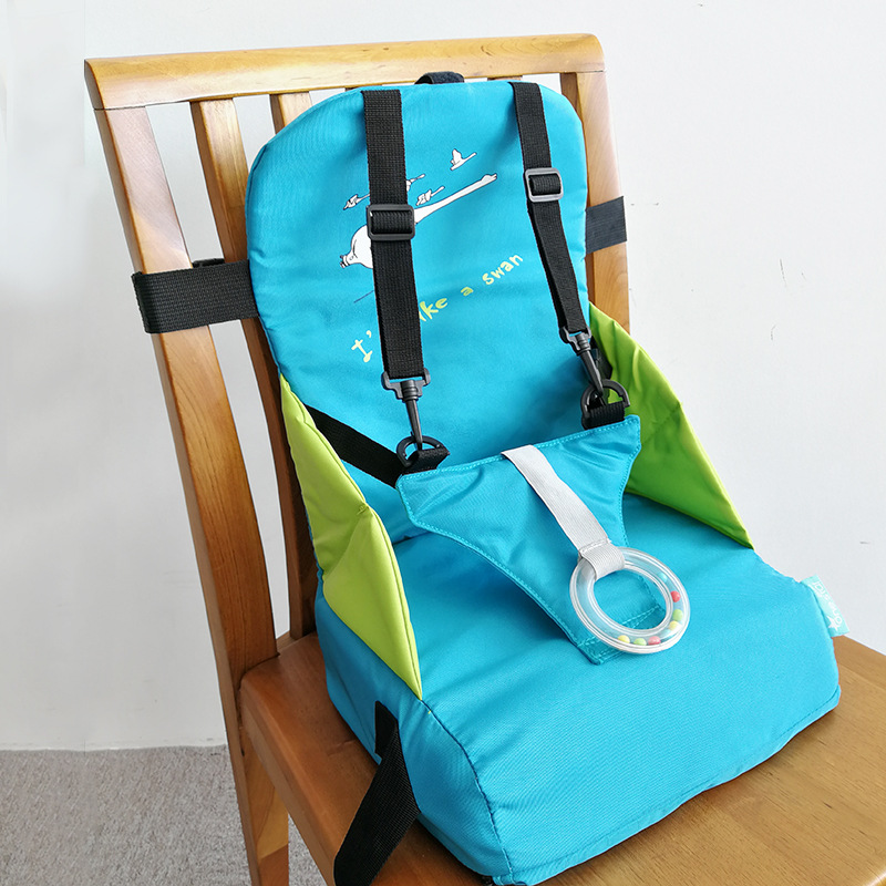 Portable Foldable Baby Dining Chair Bag Seat Cushion Oxford Water Proof Fabric Multi-Functional Outdoor  Children's Dining Chair