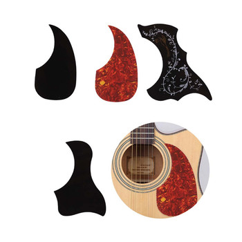 Professional Guitar Accessories Drop Bird Shaped Pickguard Folk Acoustic Self-adhesive Pick Guard  Sticker Scratch Plate professional guitar accessories drop bird shaped pickguard folk acoustic self adhesive pick guard sticker scratch plate