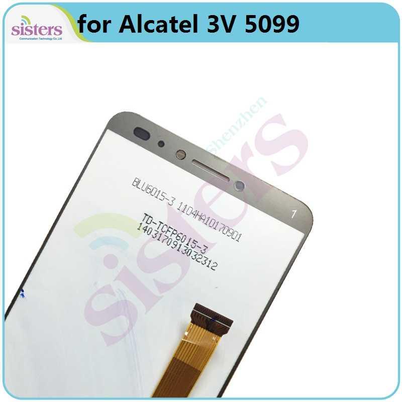 LCD Screen Für Alcatel 3V 5099Y 5099A 5099D 5099U 5099I LCD Display mit Touch Screen Digitizer Montage Telefon Teile getestet Top