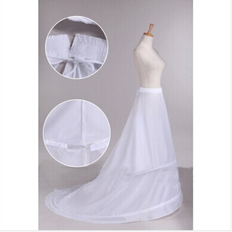 2 Hoops Wedding Accessories A-line Wedding Petticoat Crinoline Slip Underskirt For Wedding Dress Can Can Para Vestido De Novia