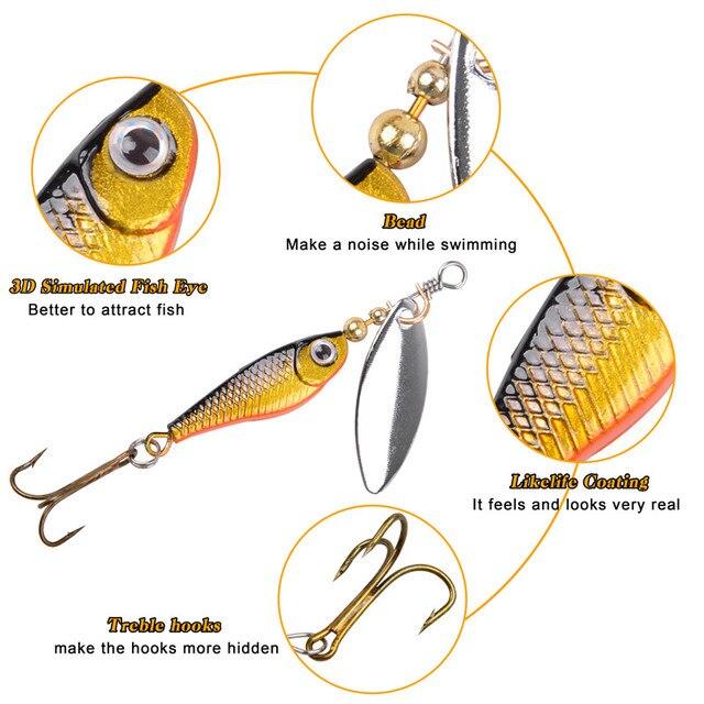 Фото приманка спиннер для ловли окуня 3 125 г с тройными крючками цена