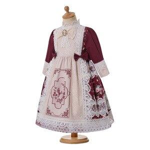 Image 3 - Pettigirl vestido largo clásico de chica de la boda, bordado de encaje floral, con tocado, G DMGD210 281 para niños, 2020