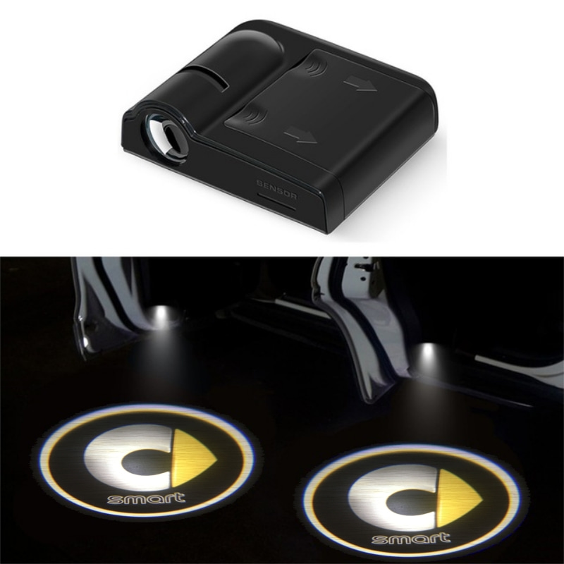 Car Door Welcome Light for Smart Logo 450 Prix Fortwo Forfour Forspeed Forstars brabus LED Laser Projector Lamp Accessories