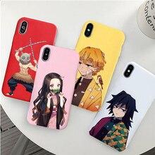 Kamado Nezuko Kimetsu no Yaiba Demon Slayer TPU цветной мягкий чехол для телефона iphone 6/6s 7/8, 7 Plus/8 Plus, X, XS i11 i11pro