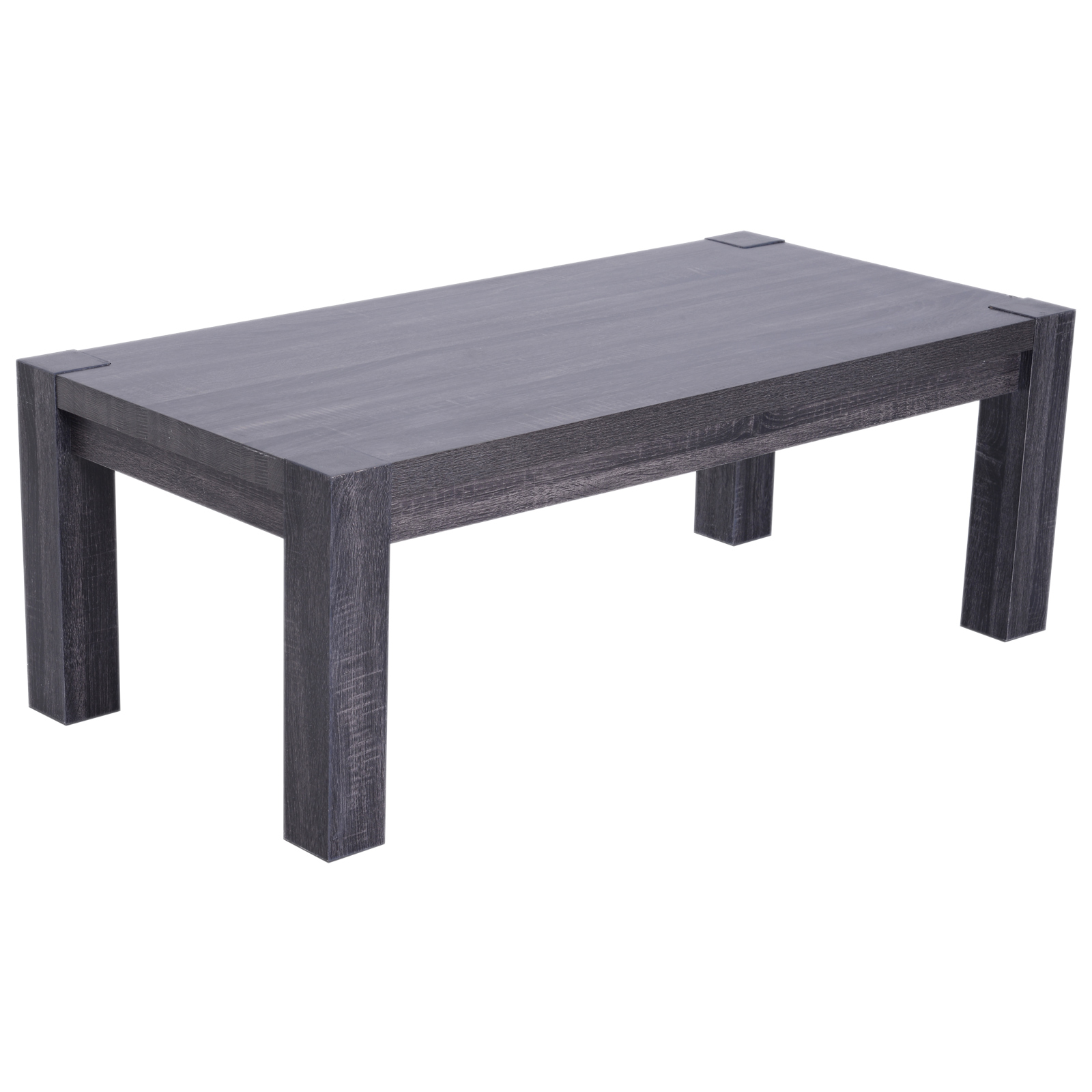 HOMCOM Coffee Table Modern Design Living Room Living Room Wood 120x59x45 Cm Black