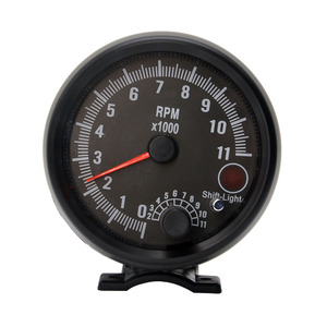 Image 3 - Dragon 3.75 Inch Racing Car Tachometer Gauge 7 LED Colors 0 11000 Rpm For 1/2/3/4/5/6/7/8 Cylinder Black Shell And Face Meter