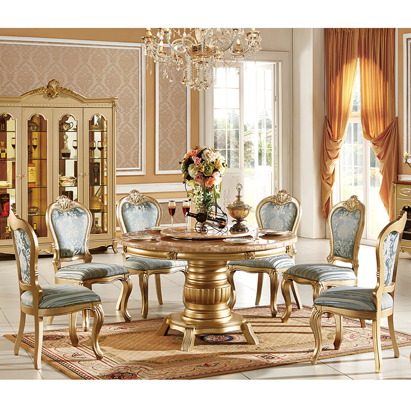 Italian Classical Design Genuine Leather Cover Solid Wood Dining Chair Marble Dining Table Set Dining Room Sets Aliexpress