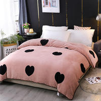 Gold velvet thickening Duvet Cover monopoly bedding set Black heart Quilt Cover Bean paste 150cmx200cm/200cmx230cm/220cmx240cm