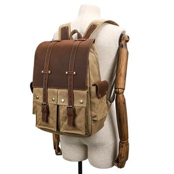 YUPINXUAN 2020 Dropshipping Mens Vintage Backpacks Students Waterproof Traveling Rucksacks Retro Strings Backpack