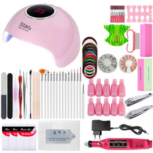 Manicure Set Nail UV LED Lamp Dryer Nail Kit Gel Polish Soak Off Pedicure Set Electric Nail Drill Machine File Nail Art Tools gel polish nail art tools kits 36w uv led nail dryer lamps uv gel polish polish gel manicure machine set nail file remover tools
